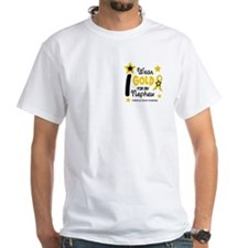 I Wear Gold 12 Nephew CHILD CANCER Shirt