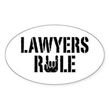 Lawyers Rule Oval Decal