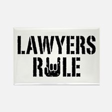 Lawyers Rule Rectangle Magnet