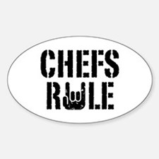 Chefs Rule Oval Decal