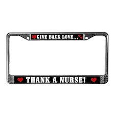 Thank a Nurse License Plate Frame