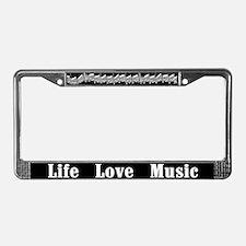 Life, Love, Music License Plate Frame