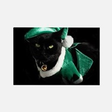 Kitty Grinch Rectangle Magnet