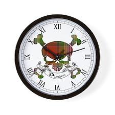 Dundee Tartan Skull Wall Clock