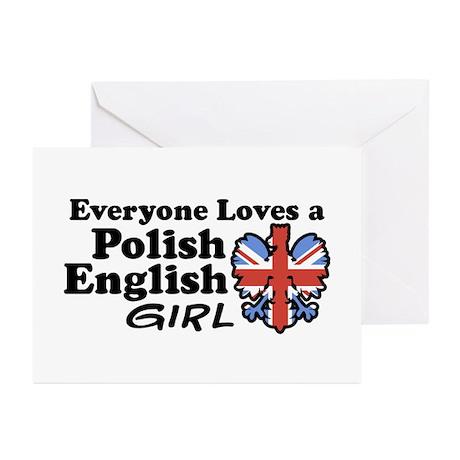 Polish English Girl Greeting Cards (Pk of 10)