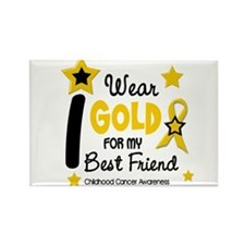 I Wear Gold 12 Best Friend CHILD CANCER Rectangle
