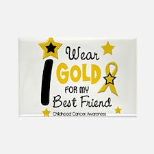 I Wear Gold 12 Best Friend CHILD CANCER Rectangle