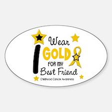I Wear Gold 12 Best Friend CHILD CANCER Decal