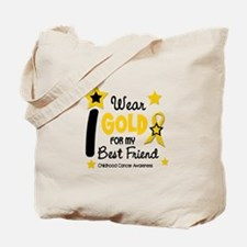 I Wear Gold 12 Best Friend CHILD CANCER Tote Bag