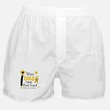 I Wear Gold 12 Best Friend CHILD CANCER Boxer Shor
