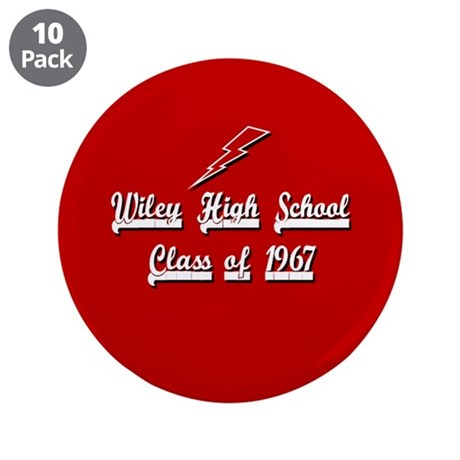 """Wiley Alumni 1967 3.5"""" Button (10 pack)"""