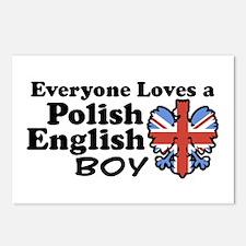 Polish English Boy Postcards (Package of 8)