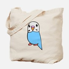 Cute Blue Budgie Tote Bag