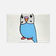 Cute Blue Budgie Rectangle Magnet