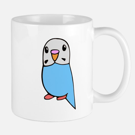 Cute Blue Budgie Mug