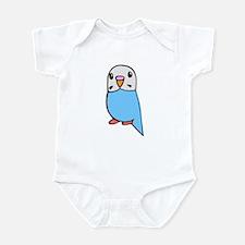 Cute Blue Budgie Infant Bodysuit