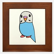 Cute Blue Budgie Framed Tile