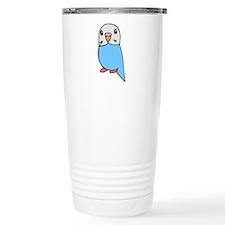 Cute Blue Budgie Travel Mug