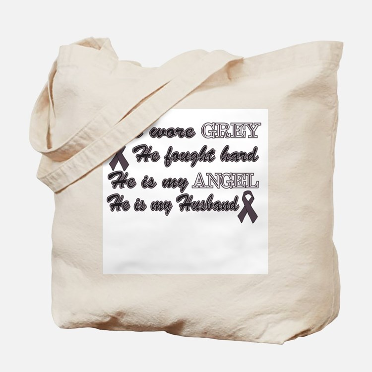 His is my Husband Grey Angel Tote Bag