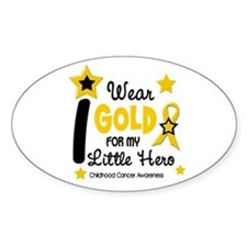 I Wear Gold 12 Little Hero CHILD CANCER Decal