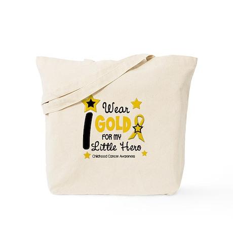 I Wear Gold 12 Little Hero CHILD CANCER Tote Bag