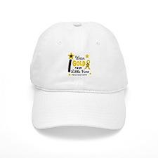 I Wear Gold 12 Little Hero CHILD CANCER Baseball Cap