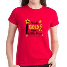 I Wear Gold 12 Little Hero CHILD CANCER Tee