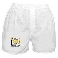 I Wear Gold 12 Little Hero CHILD CANCER Boxer Shor