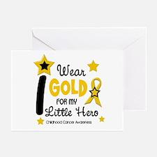 I Wear Gold 12 Little Hero CHILD CANCER Greeting C