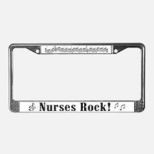 nurses rock license plate frame