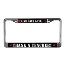 Thank a Teacher License Plate Frame
