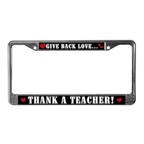 Thank a Teacher License Plate Frame