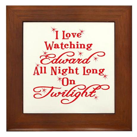 All night Twilight Framed Tile