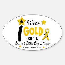 I Wear Gold 12 Brave Boy CHILD CANCER Decal