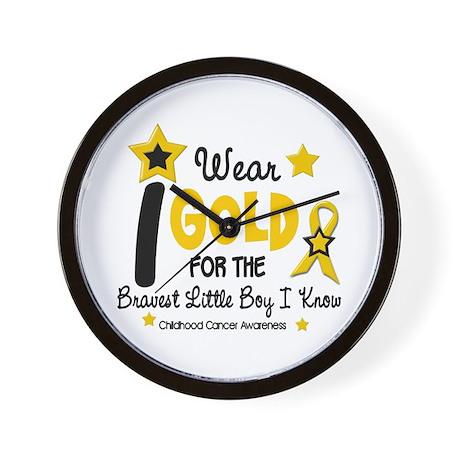 I Wear Gold 12 Brave Boy CHILD CANCER Wall Clock