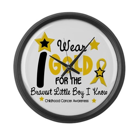 I Wear Gold 12 Brave Boy CHILD CANCER Large Wall C
