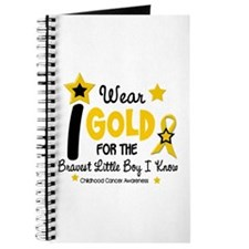 I Wear Gold 12 Brave Boy CHILD CANCER Journal