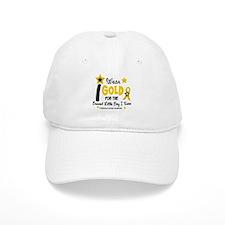 I Wear Gold 12 Brave Boy CHILD CANCER Baseball Cap