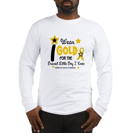 I Wear Gold 12 Brave Boy CHILD CANCER Long Sleeve