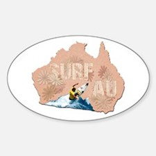 Surf Australia Oval Decal