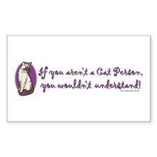 Cat Person Rectangle Decal