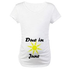 Due in June Shirt (sun/belly/black)