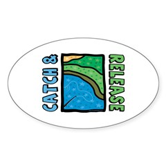 Catch and Release Oval Sticker (10 pk)