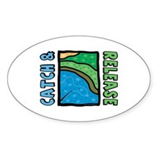Catch and Release Oval Sticker (50 pk)