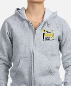 I Wear Gold 12 Sister CHILD CANCER Zip Hoodie