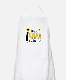I Wear Gold 12 Sister CHILD CANCER BBQ Apron