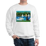 Sailboats / Flat Coated Retri Sweatshirt
