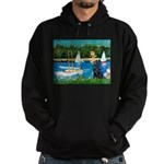 Sailboats / Flat Coated Retri Hoodie (dark)
