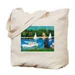Sailboats / Flat Coated Retri Tote Bag