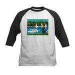 Sailboats / Flat Coated Retri Kids Baseball Jersey